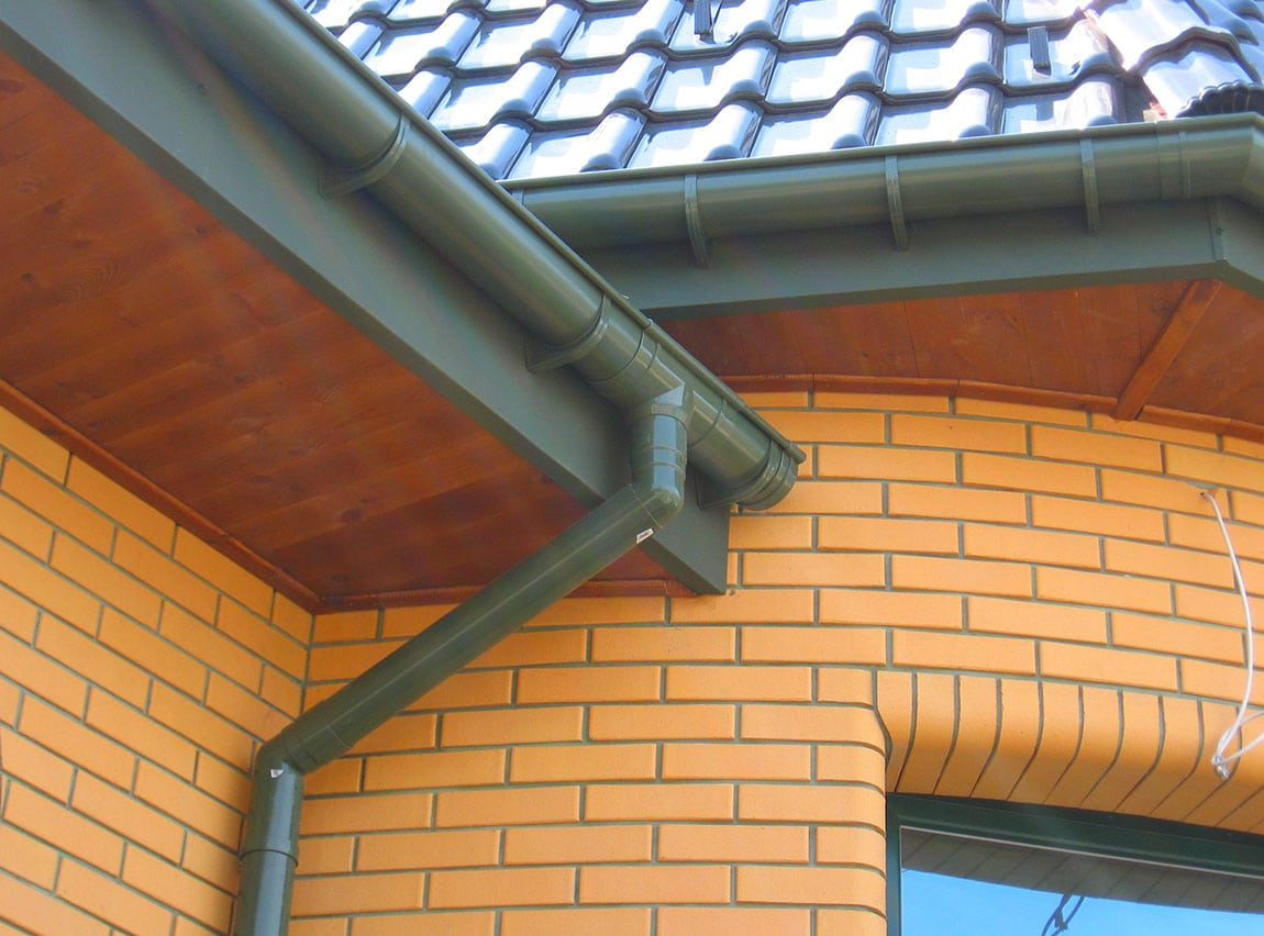 Gutters installed by Nico roofing contractors